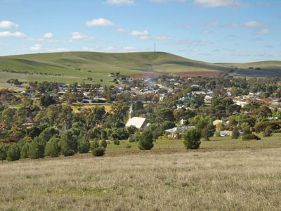From the town lookout this is a general view of the township of Burra